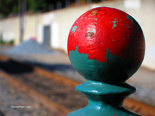 Painted Ball and Tracks | by GeorgeAlger.com