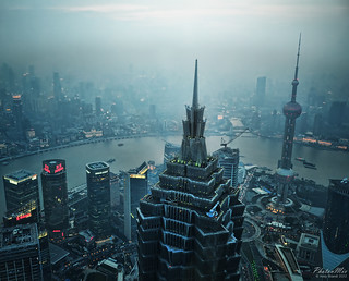 Shanghai - Cityscape, Huangpu River and Bund Promenade at Dusk | by Andy Brandl (PhotonMix)