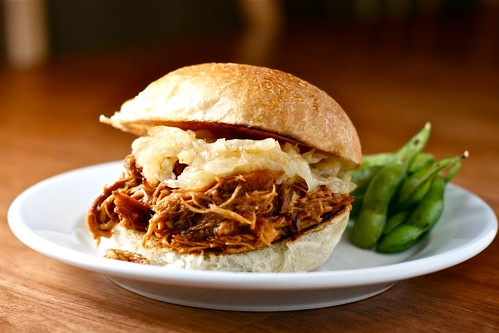slow cooker pulled bbq chicken | by Hungry Housewife