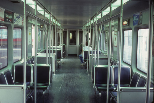 mbta red line pullman car 01505 interior 1980s not my pho ck4049 flickr. Black Bedroom Furniture Sets. Home Design Ideas