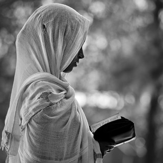 Woman reading bible in church - Ethiopia | by Eric Lafforgue