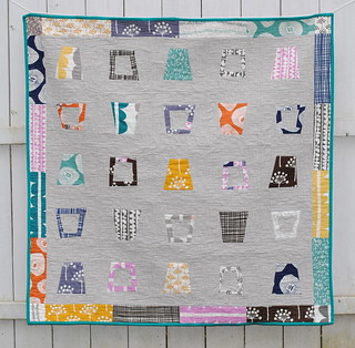 Glass Half Full Quilt Front | by Lindsay Sews {@CraftBuds}