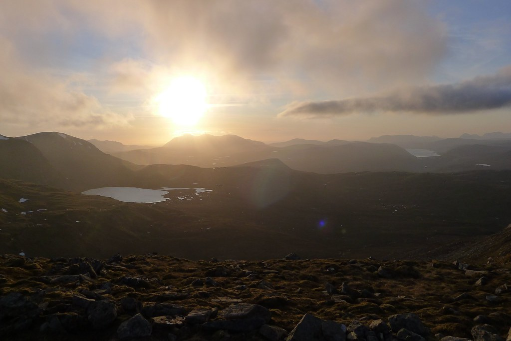 Sunset over An Teallach