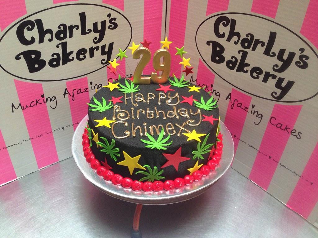 Rastafarian Dagga Cannabis Themed 29th Birthday Cake Wit Flickr