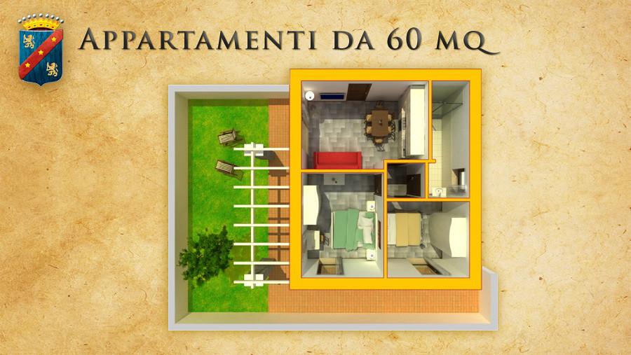 ... ConteadeiCiliegi Pianta Appartamento 60mq Casa Vancaza Contea Dei  Ciliegi | By ConteadeiCiliegi
