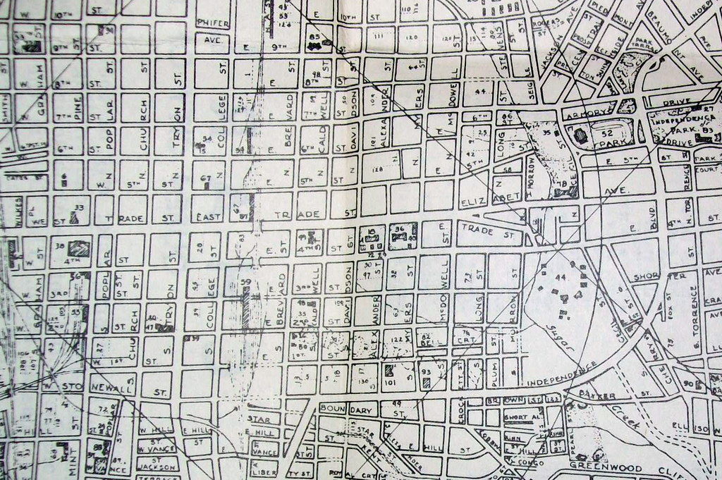 Charlotte NC 1950 | Map by City Engineering Department, draf… | Flickr