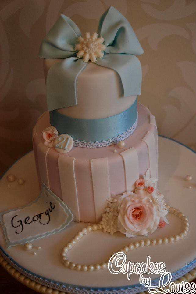 Vintage Shabby Chic Birthday Cake Louise M Flickr