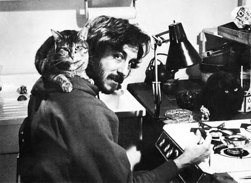 Me & cats sculpting fantasy miniatures in the early 80's | by Tom Loback