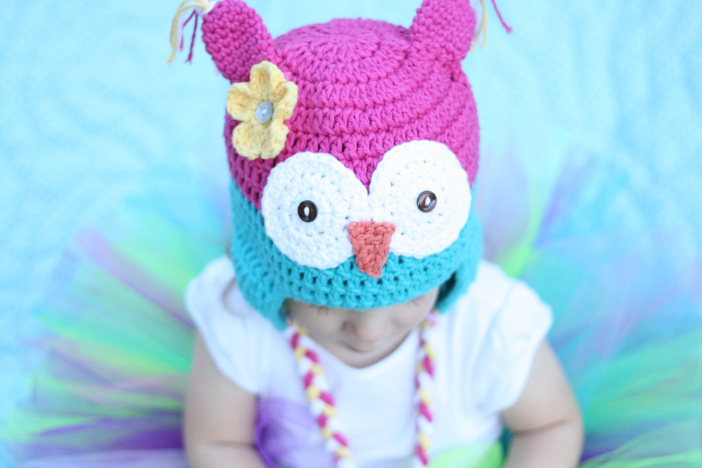 Free Owl Hat Crochet Pattern - Daisy Cottage Designs 1e40086d1a6