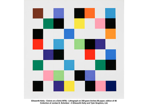 Ellsworth Kelly - Colors on a Grid (1976) | by artimageslibrary