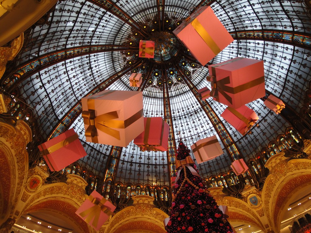 ... Christmas Decorations At Galeries Lafayette   8th Arrondissement, Paris  | By New York Habitat