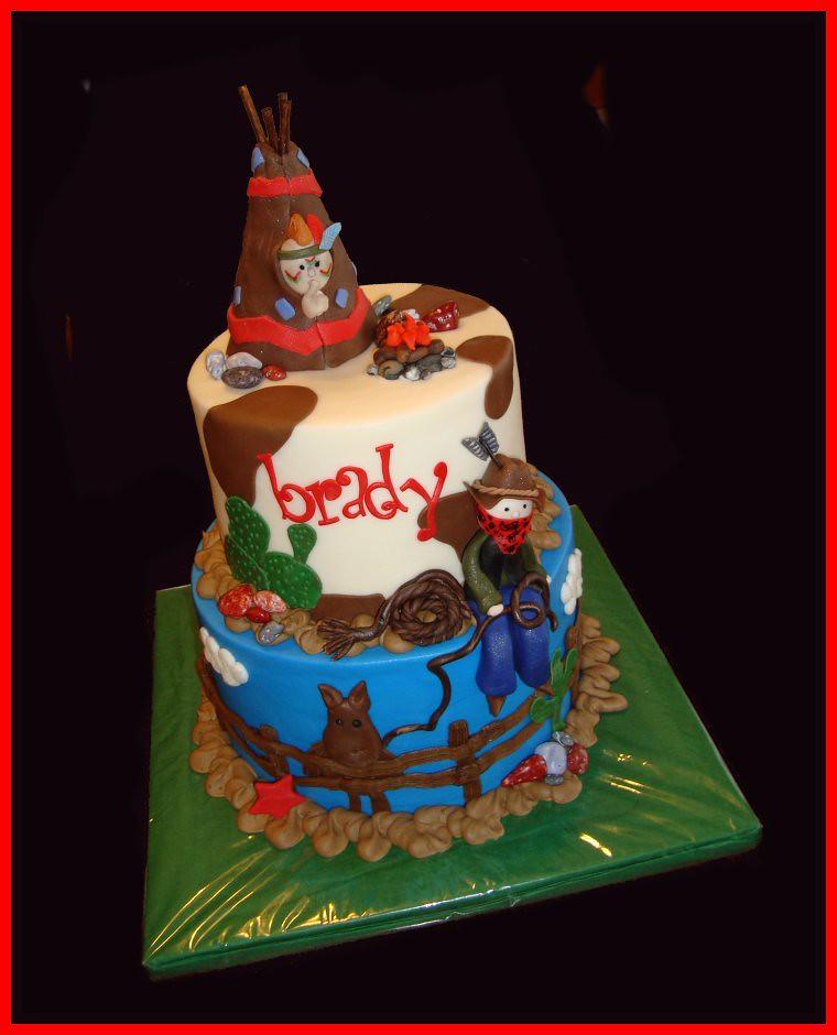Cowboy Indian Cake For Brady Atasteofwhimsy Flickr