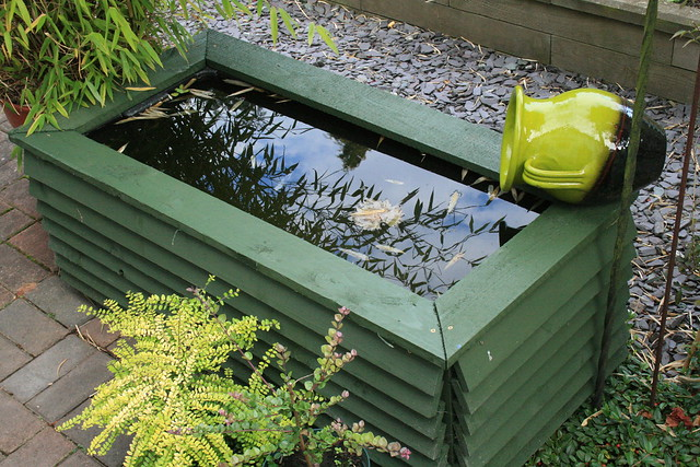 recycled garden water feature