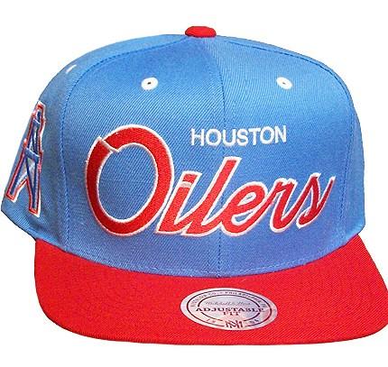 c06924e0dc8 ... shop nfl mitchell ness houston oilers snapback hat cap by tisahats  f1d8c b52d8