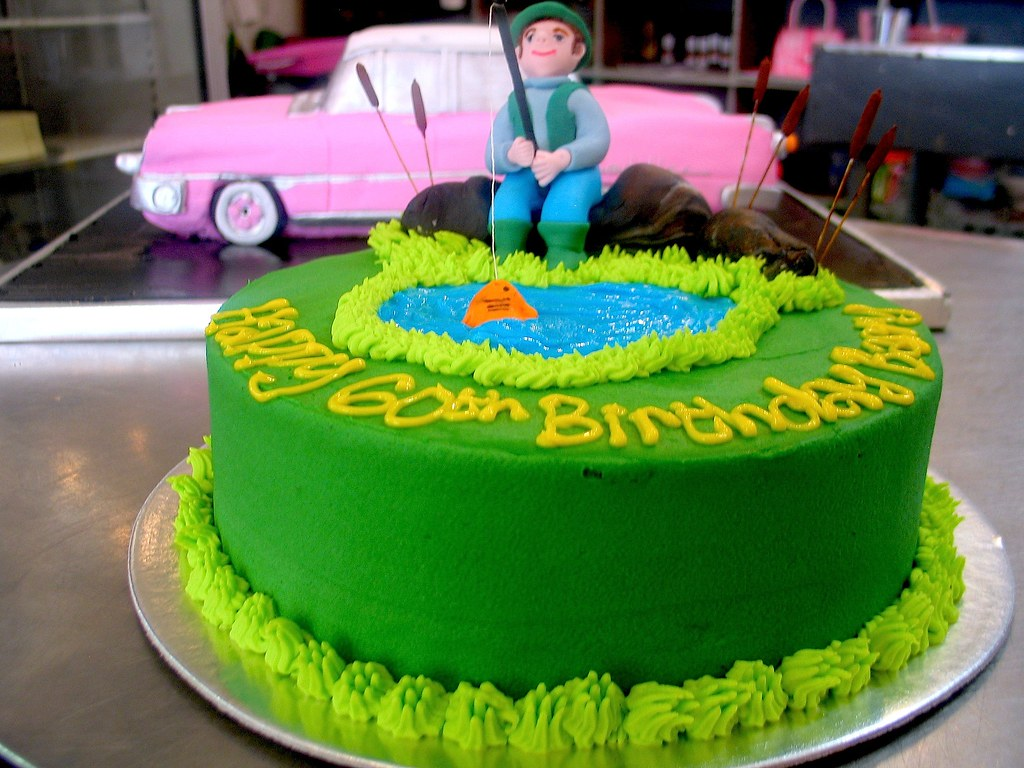 Wicked Chocolate cake iced in grass green butter icing dec Flickr