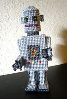 Plastic Canvas Robot | by CraftyPod