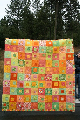 the biggest quilt i've ever made - 102 x 104 | by Leigh - leedle deedle quilts
