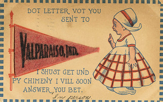 Dot Letter Vot You Sent, 1914 - Valparaiso, Indiana | by Shook Photos
