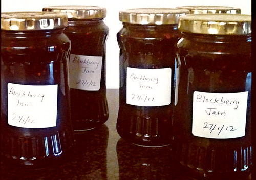 5 jars of blackberry jam | by jomcleay