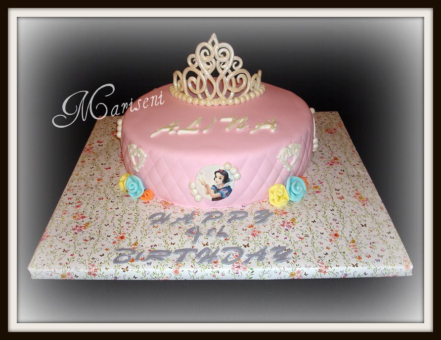 Disney Princess Birthday Cake With Gumpaste Tiara Join Us Flickr