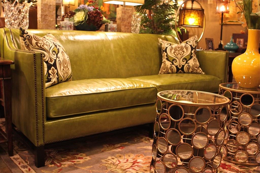 Attirant ... MORTISE U0026 TENON CUSTOM FURNITURE ON LA BREA Modern Green Leather Sofa