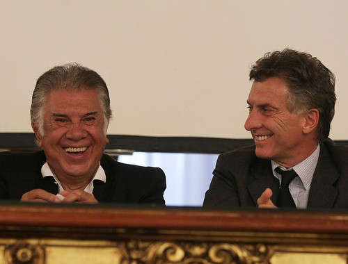 Raul Lavie: Mauricio Macri Con Raúl Lavié, Ciudadano Ilustre (1 De 1