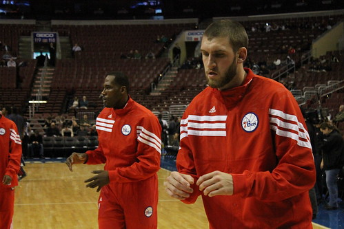 Elton Brand and Spencer Hawes | by Philadelphia 76ers