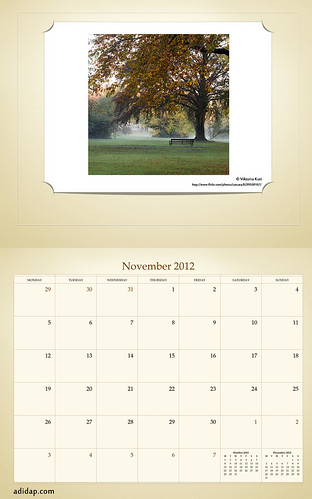 ADIDAP Calendar 2012 UK Retro November | by akhater