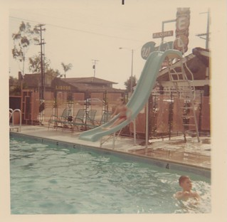 In the Pool at the Waikiki Motel, 1967 - Anaheim, California | by The Cardboard America Archives