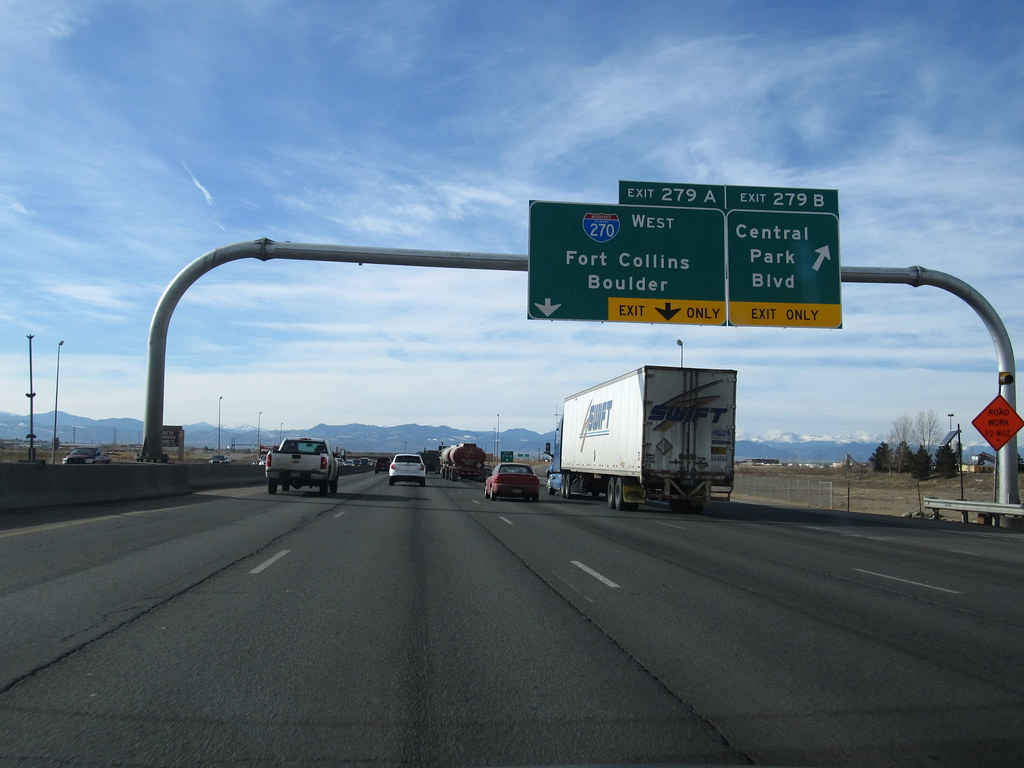 Exit B I Westbound Denver Colorado As The Freeway Flickr - Us map interstate 70