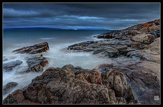 Night time over the rocks at Swansea | by darreng2011