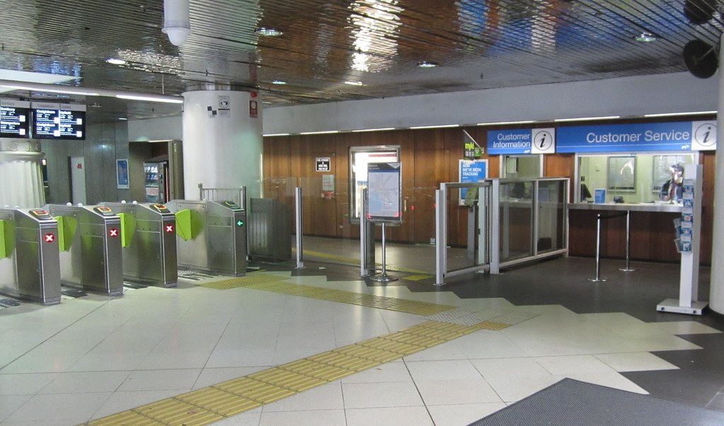Parliament station (north end) Myki gates and bypass gate