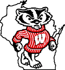 "Wisconsin Badgers ""Bucky"" outline logo 