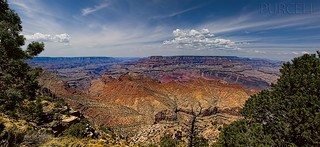 Grand Canyon as seen from the Desert View Watchtower area. | by Jim Purcell