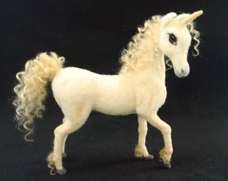 "Needle Felted Unicorn ""Cassandria"" 