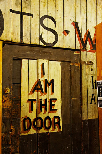 """I am the door,"" Basement of City Lights Books, San Francisco 