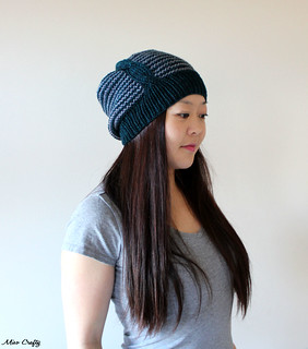 Here and There Hat - Cable Side 2 | by MisoCraftyKnits