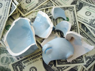 Broken Piggy Bank | by 401(K) 2013