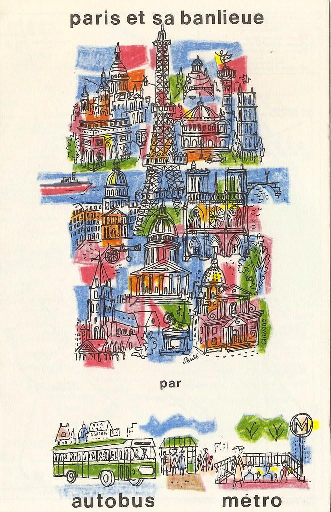 RATP - Paris bus and metro map, 1969 - plan Paris autobus … | Flickr
