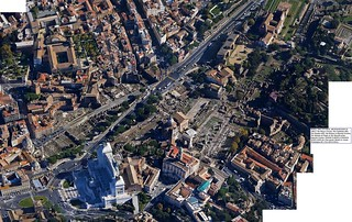 ROMA, THE CENTRAL ARCHAEOLOGICAL AREA: The Piazza Venezia, The Capitoline Hill, The Palatine Hill, The Roman & Imperial Forums, The Markets of Trajan & The Museum of the Imperial Forums. GOOGE EARTH & GOOGLE MAPS (2009-10). (04/12/2011). [3663 x 2315]. | by Martin G. Conde