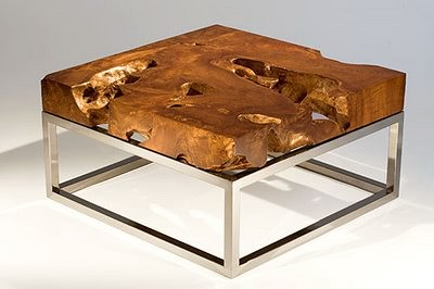 ... Teak Root Slab Table Top | By IndoGemstone