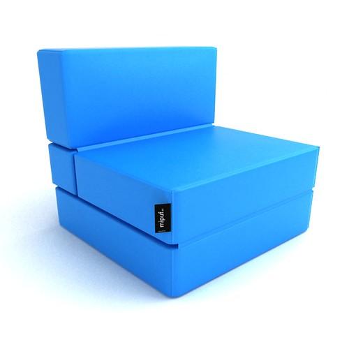 Puff cama convertible azul turquesa al concepto de decorac flickr - Puff convertible cama ...