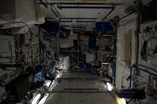 The Columbus module, with lots of biomedical apparatus, where I have already done many experiments | by André Kuipers