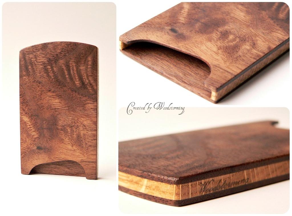 Wooden business card case - handmade, walnut and oak, orig… | Flickr