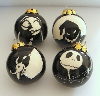 Nightmare before Christmas baubles | by ClaireWallis