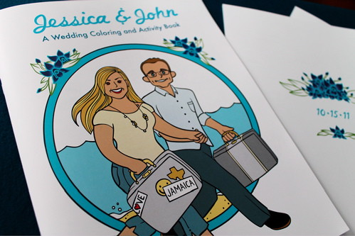 Jessica & John\'s Jamaican Wedding Custom Coloring Book | Flickr