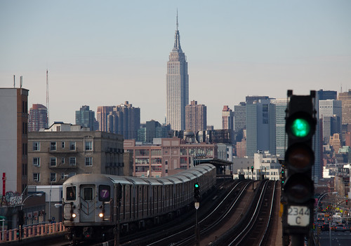 View from 46th St / Bliss Stop - Sunnyside, Queens NYC | by ChrisGoldNY