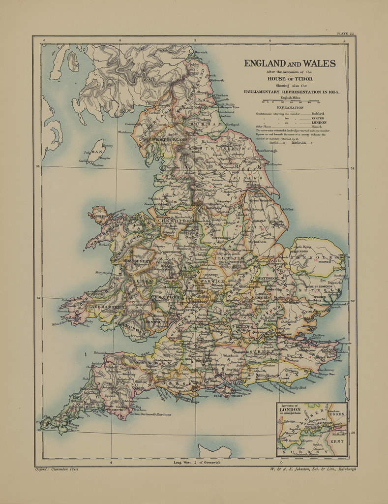 Map page of section xxii england and wales after the acces flickr map page of section xxii england and wales after the accession of the house of tudor gumiabroncs Gallery