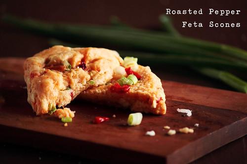Roasted Pepper Feta Scones | Recipe Blog Facebook | Kristin Rosenau ...