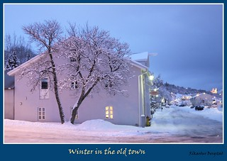 Winter and snow in the old town of Akureyri Iceland | by rikardur>bergstad